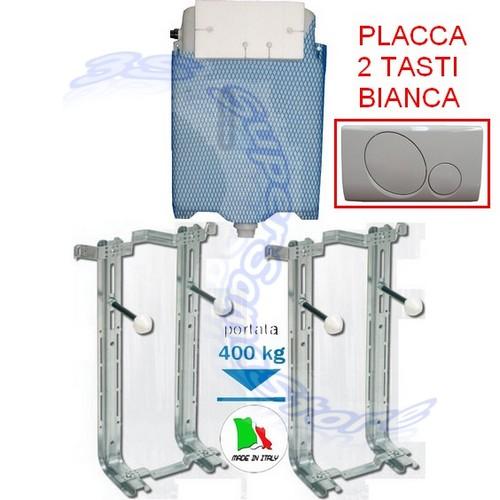 Kit installazione sanitari sospesi placca wc 2 tasti