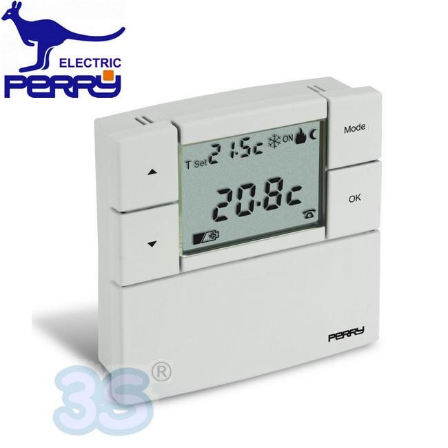 Nuovo termostato ambiente digitale da parete perry lcd for Termostato perry vecchio modello