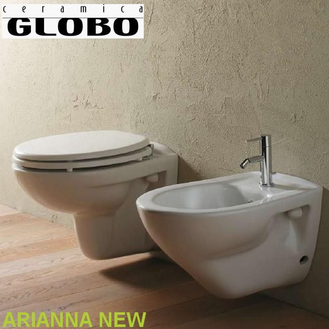 3s kit set sanitari bagno sospesi arianna ceramica globo - Box doccia globo ...