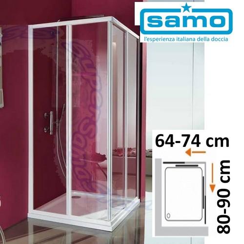 Box Doccia Samo Box Doccia Modello Ciao In Cristallo Rettangolare 70x90 Cm Super Sama