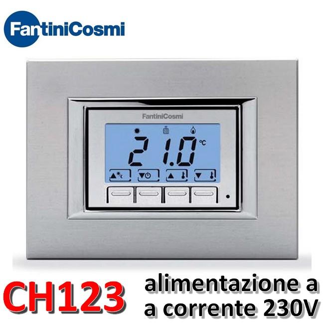 Termostati f on off ch123 termostato ambiente digitale for Fantini cosmi ch140gsm prezzo