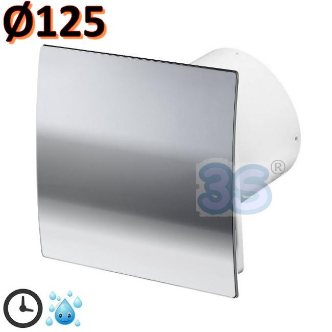 3s aspirante aspiratore bagno 125 mm timer igrostato - Aspiratore bagno umidita ...
