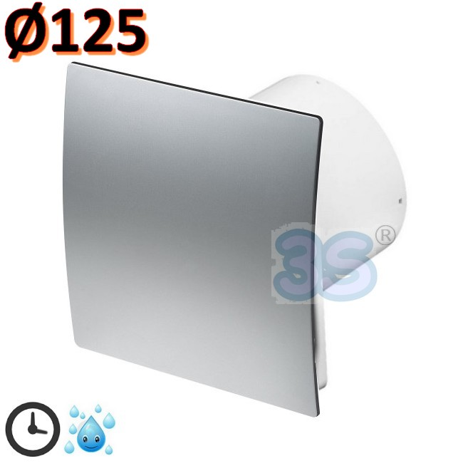 3s aspirante aspiratore bagno 125 mm timer igrostato umidit vari colori ebay - Aspiratore bagno senza uscita esterna ...