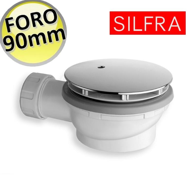 3s piletta sifonata ribassata altezza 60 mm per piatto doccia foro 90 mm silfra ebay - Scatola sifonata bagno ...