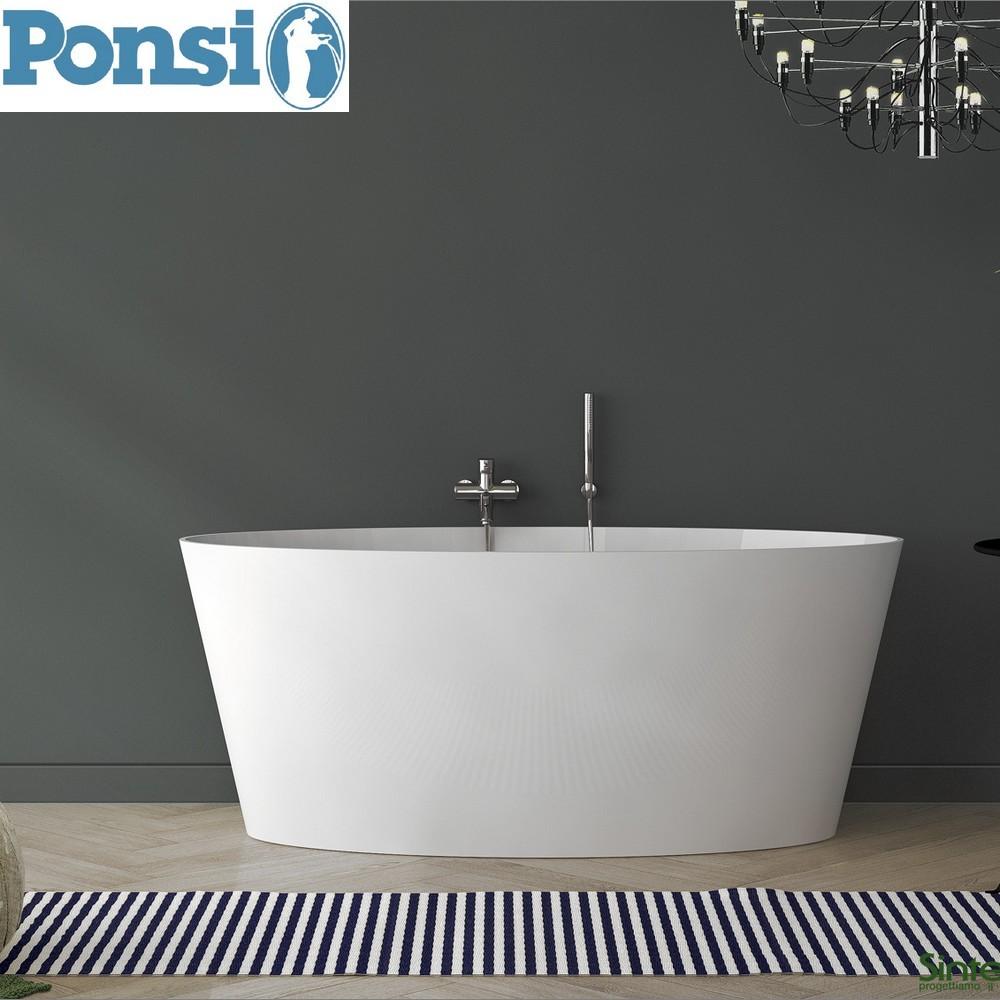 VASCHE DA BAGNO TRADIZIONALI : Vasca da bagno SIGMA Ponsi in marmoresina con struttura portante ...