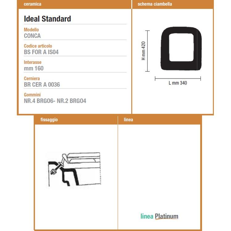 3s sedile tavoletta copri wc ideal standard conca anima in for Ideal standard conca visone