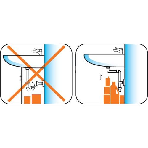 nuovo sifone salvaspazio per lavabo attacco 1