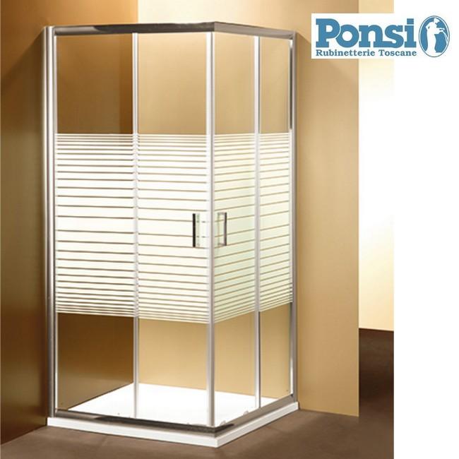 Box Doccia Con Cristallo Colorato : S box doccia ponsi quadrato cristallo mm serigrafato