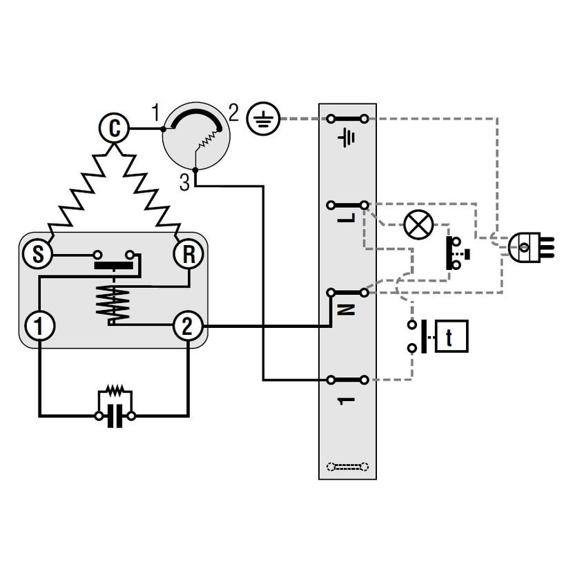 Schema Elettrico Termostato Frigo : Compressori motori frigo compressore gas r a