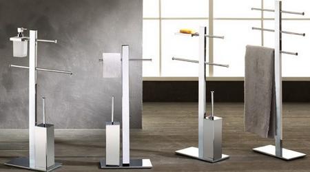 3s set 4 accessori arredo bagno gedy twist termoplastici for Colonnine bagno