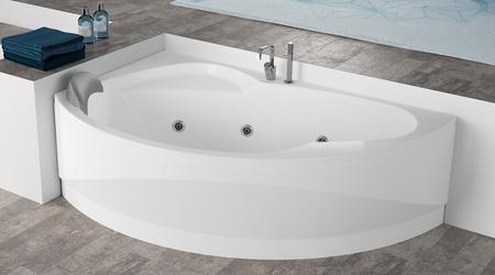 Vasca Da Bagno Tradizionale Prezzi : Novellini vasca da bagno vogue ad incasso angolare semicircolare