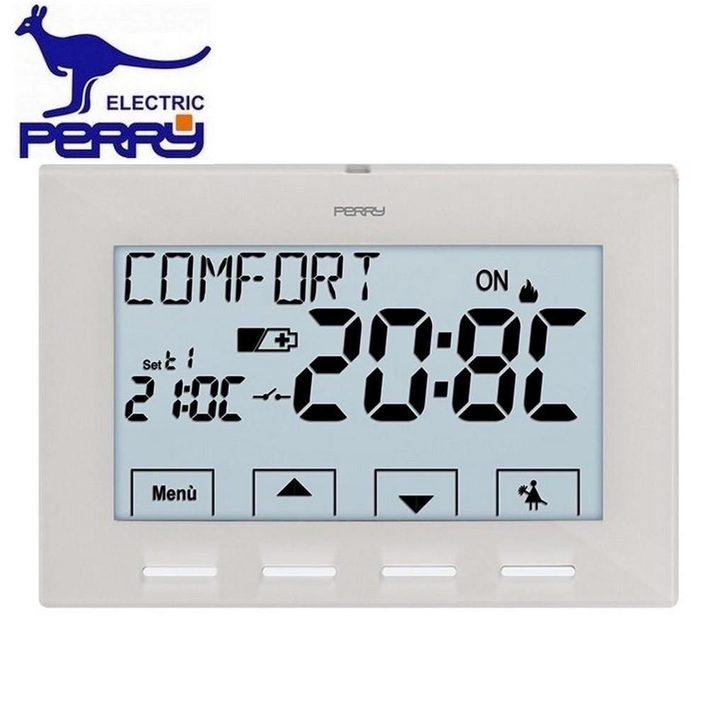 3s termostato ambiente da parete serie next perry for Termostato perry vecchio modello