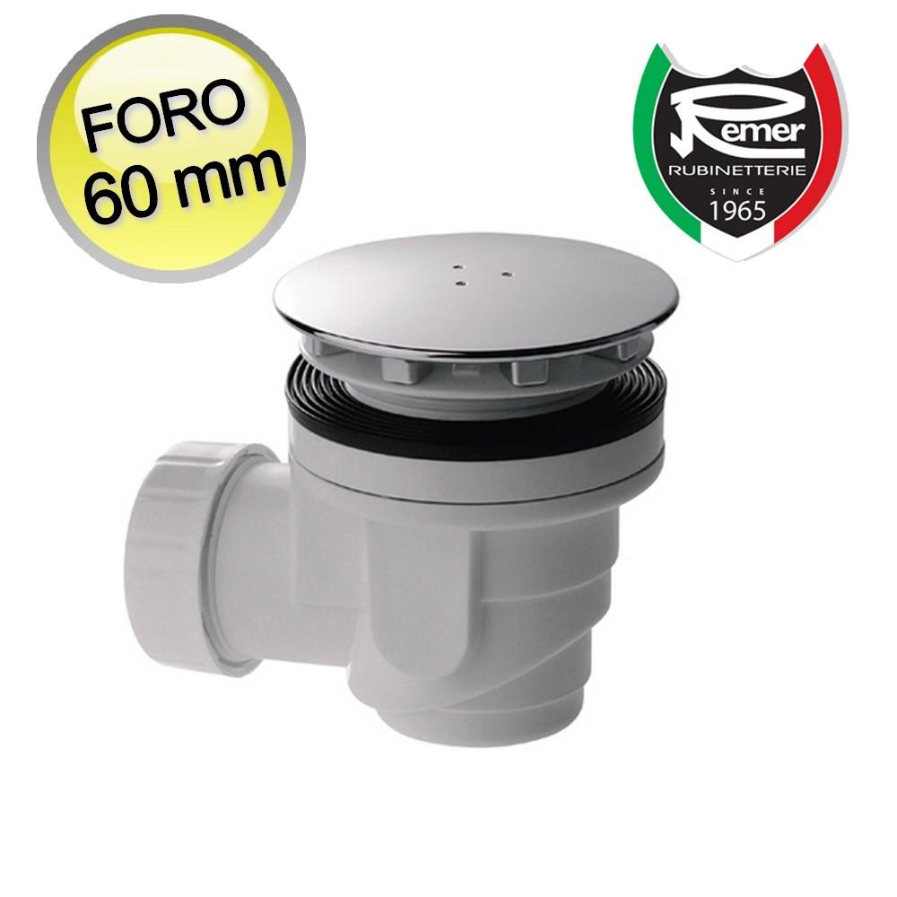 3s piletta di scarico sifonata per piatto doccia con foro 60 mm sifone nuova ebay - Scatola sifonata bagno ...