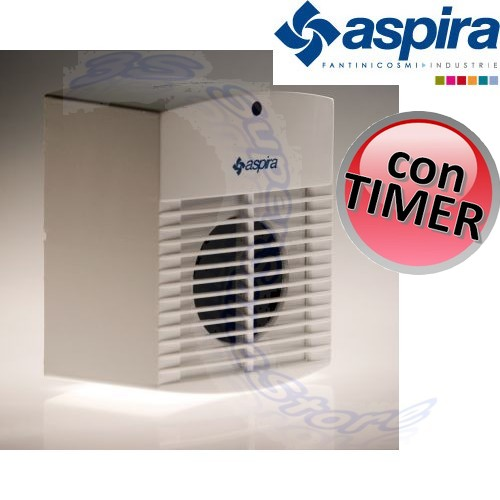 Aspiratore aria odori bagno con timer ac 100t aspira 90 m3 - Bagno senza finestra odori ...