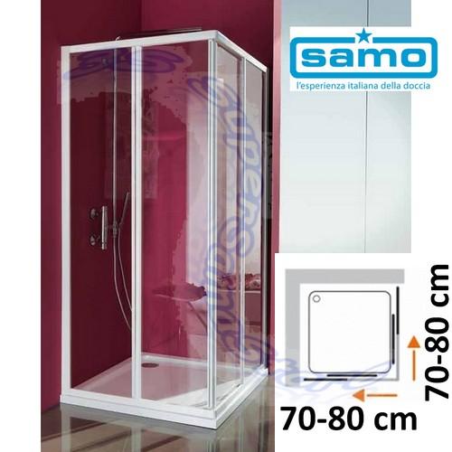 Box Doccia Modello Ciao.Dettagli Su 3s Box Doccia Samo Modello Ciao In Cristallo Per Piatto Quadro Quadrato 70 80 Cm