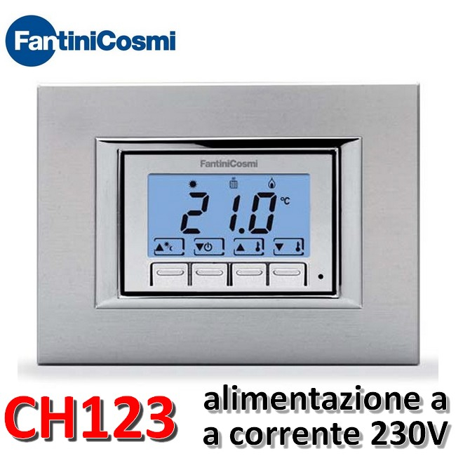 nuovo termostato ambiente incasso fantini cosmi ch123