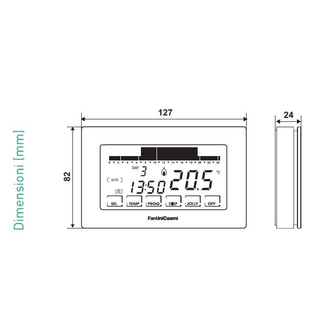 Cronotermostati f settimanali ch180 cronotermostato for Intellicomfort ch180