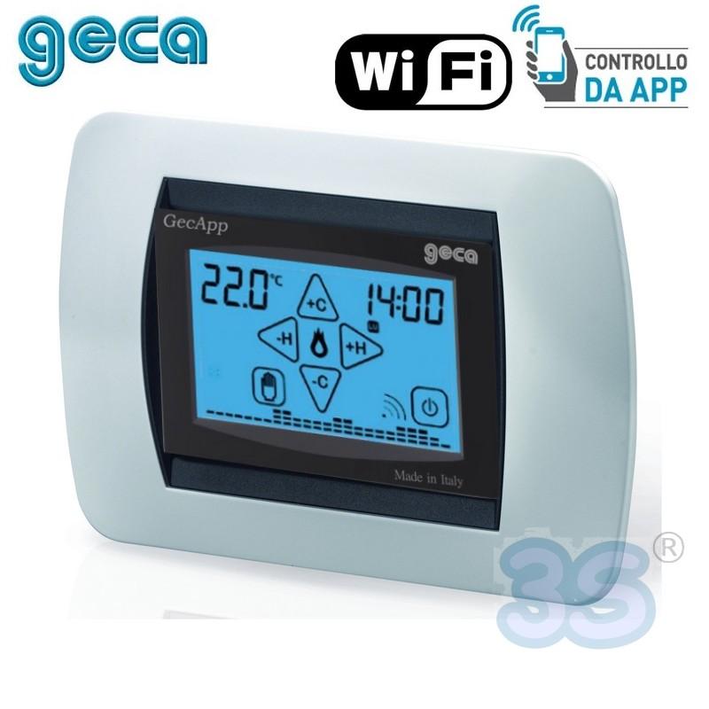 Geca componenti gsm e wi fi cronotermostato da incasso for Termostato touchscreen gsm vimar 02906