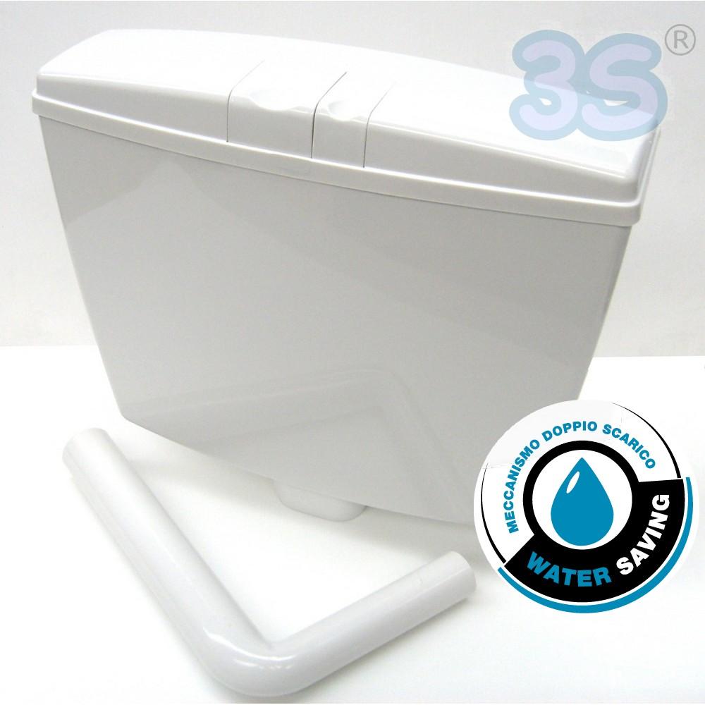 3s cassetta wc acqua esterna a zaino doppio tasto 2 - Cassetta scarico acqua bagno ...