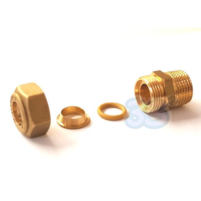 Biconi raccordi per tubi rame bicono raccordo a for Tubo di rame vs pvc