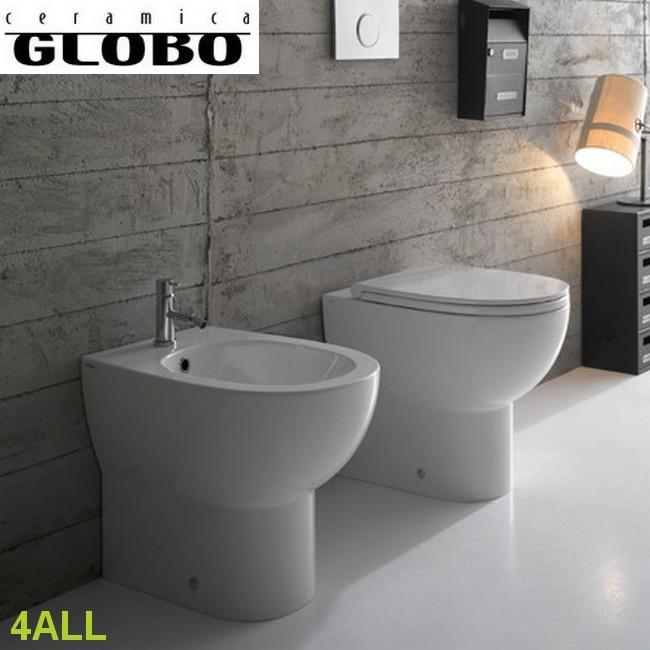 4ALL - GLOBO : Coppia sanitari a terra filo parete 4ALL - Ceramica ...