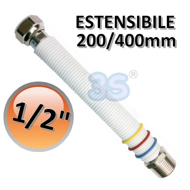 Caldaie tubo in acciaio flessibile 1 2 estensibile 200 for Tubo scaldabagno