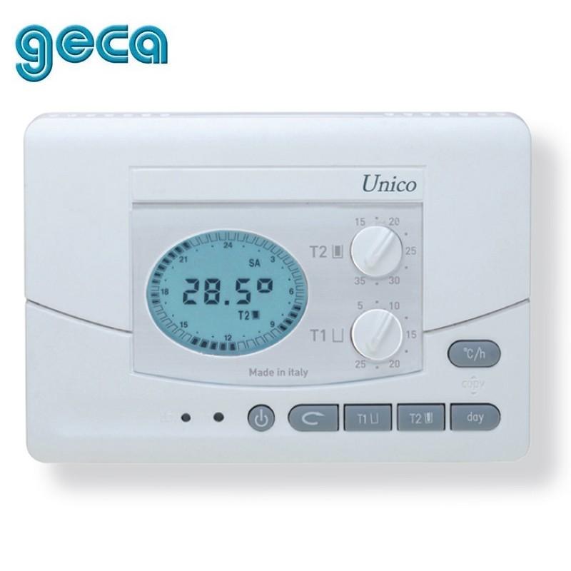 3s cronotermostato settimanale unico geca retroilluminato for Geca unico termostato istruzioni