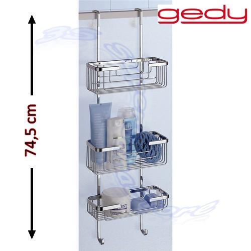 3s porta oggetti box doccia appendibile vasca 3 ripiani in - Porta saponi doccia ...