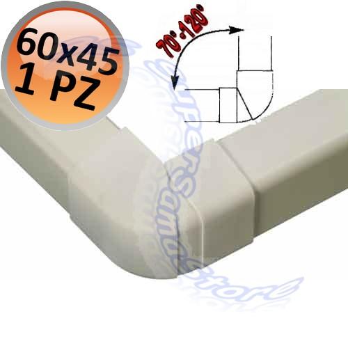 60x45 mm mono split raccordo angolo esterno regolabile