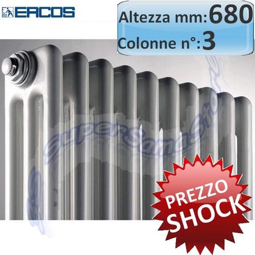 TUBOLARE H.680 mm : Radiatore tubolare acciaio 3 colonne - H 680 mm ...