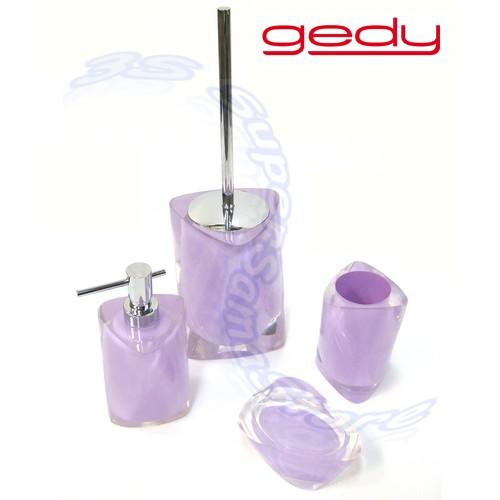 Serie Completa Accessori Bagno.Details About 3s Set 4 Accessori Arredo Bagno Gedy Twist Termoplastici Color Lilla Violetto