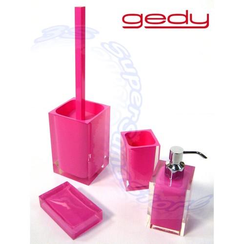 3s set accessori da bagno serie rainbow gedy colore fucsia for Accessori bagno ebay