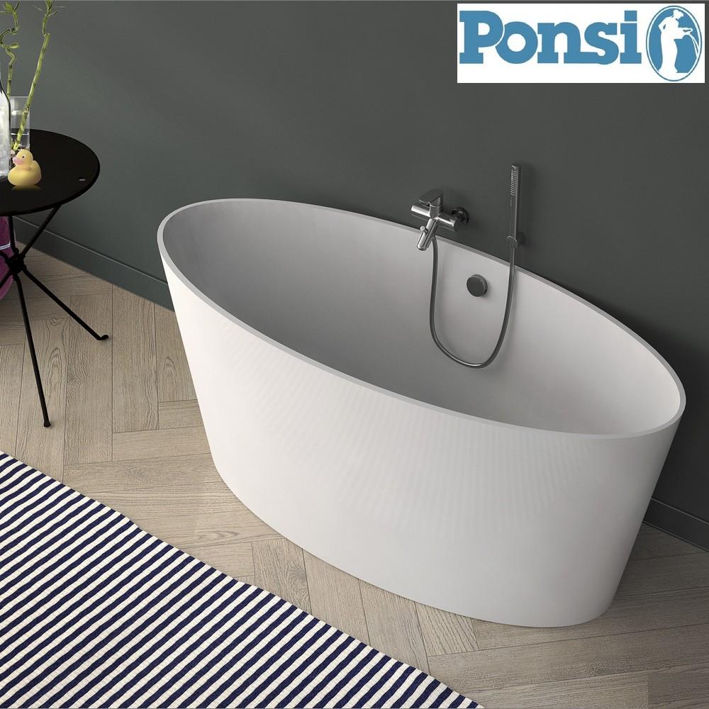 Vasche da bagno tradizionali vasca da bagno sigma ponsi in marmoresina con struttura portante - Bagno con vasca ...