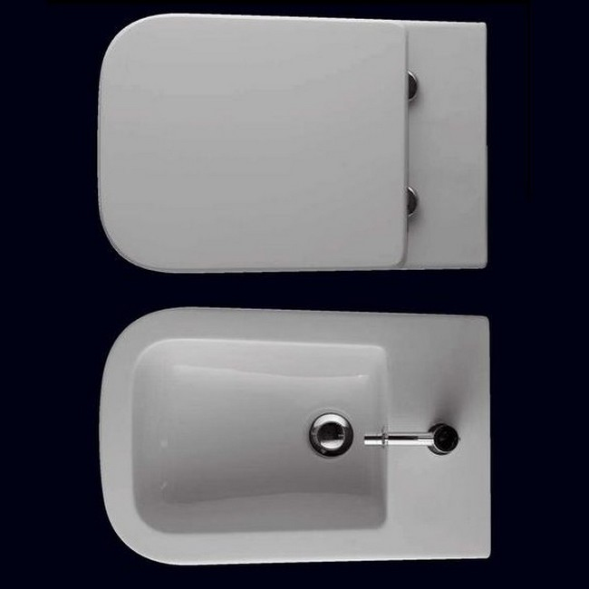 Serie STONE - GLOBO : Coppia sanitari sospesi STONE 45.36 - Ceramica ...