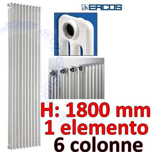 TUBOLARE H.1800 mm : Termosifone tubolare acciaio 6 colonne - H 1800 ...