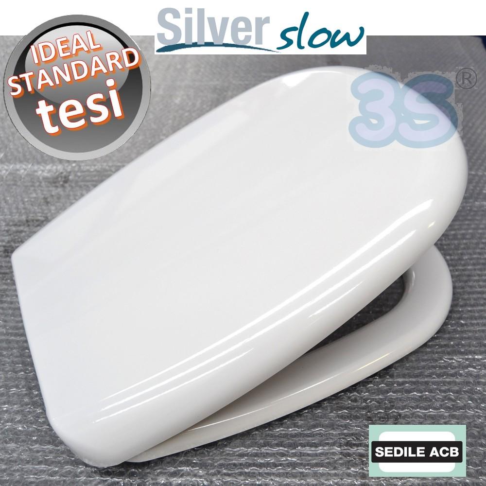 Sedile Water Ideal Standard Tesi.3s Sedile Per Wc Ideal Standard Tesi Chiusura Soft Close Rallentata