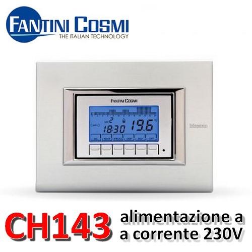 3s cronotermostato settimanale incasso ch143a fantini for Cronotermostato fantini cosmi ch180