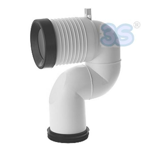 3s curva tecnica va078 per vaso wc scarico terra translata for Scarico wc a parete