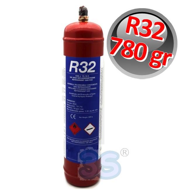 BOMBOLA RICARICABILE GAS REFRIGERANTE R32 800 gr PESO NETTO CONDIZIONATORE
