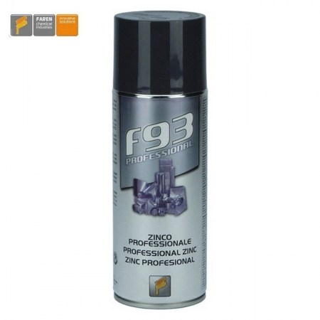 F93 Professional - zinco spray tecnico Faren flacone da 400 ml - 973003