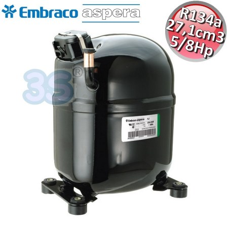 Compressore gas R134A CSR - 5/8 Hp - 27,1 cm3 - Embraco Aspera NJ2152Z