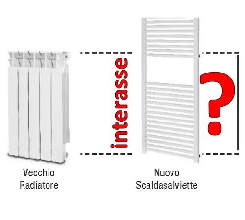 3s scaldasalviette cambio con attacchi laterali interasse for Valvole caloriferi