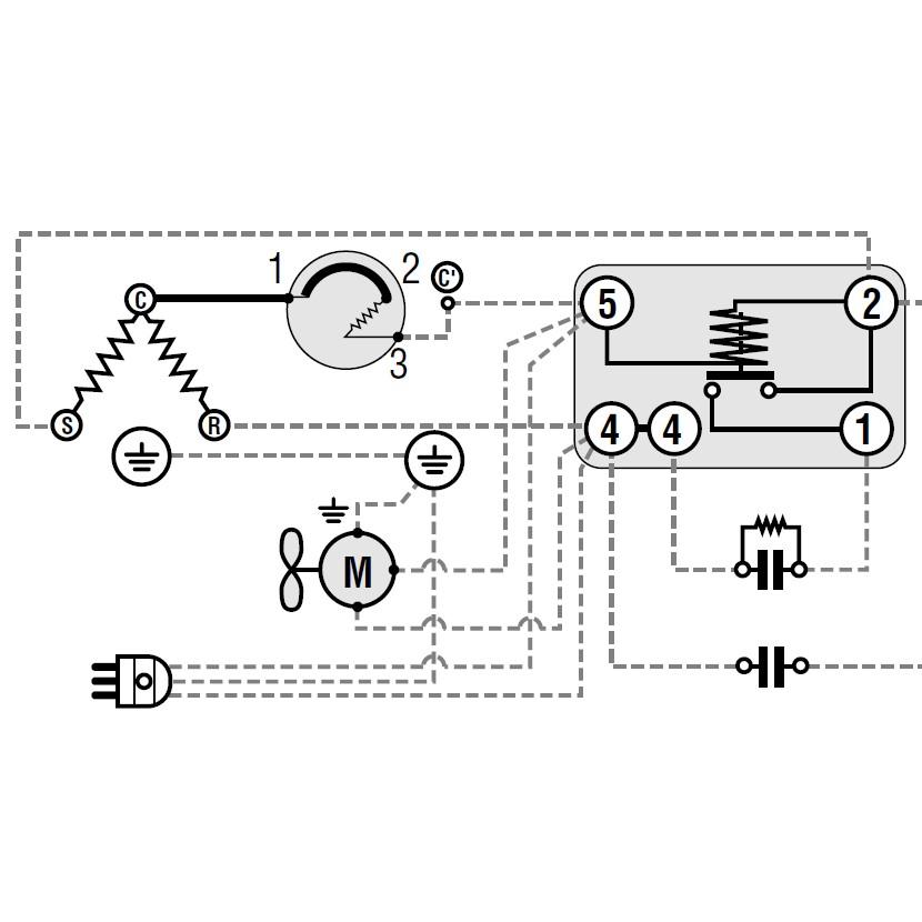 Schema Elettrico Termostato Frigo : Compressori per gas r a compressore csr ¼