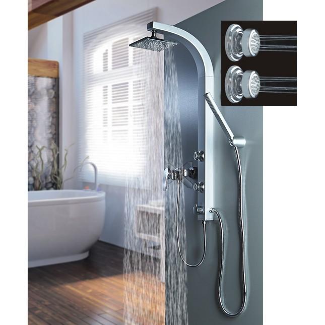 Colonne doccia colonna doccia satinata con getti for Altezza miscelatore doccia